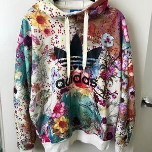 ed09649090da adidas Tops - Adidas Rare Farm Confete Trefoil Hoodie Sweatshirt